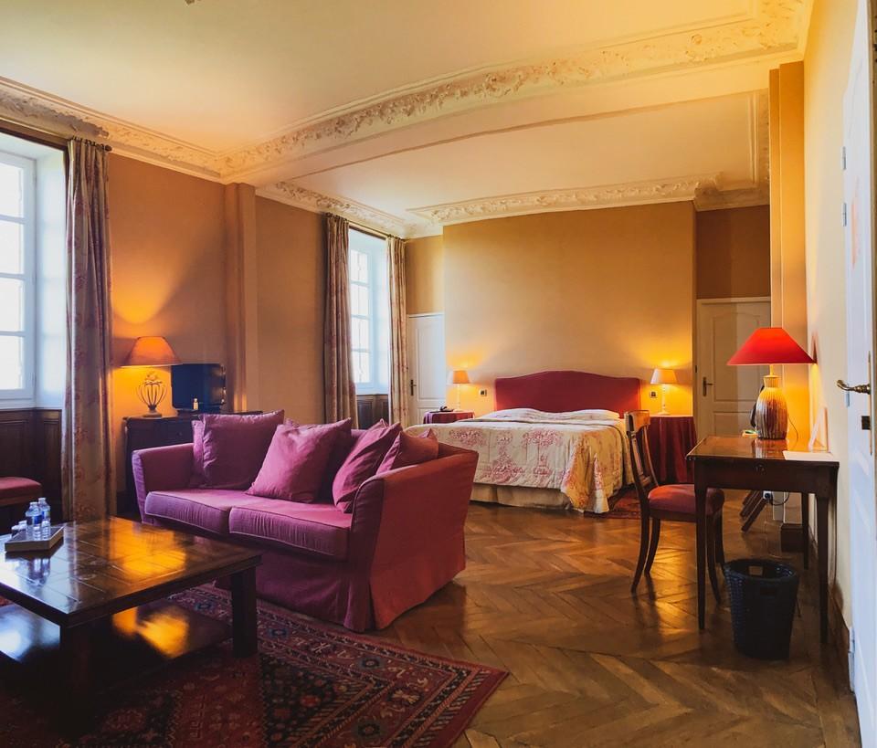 Chambre hotel, relais du château d'arche