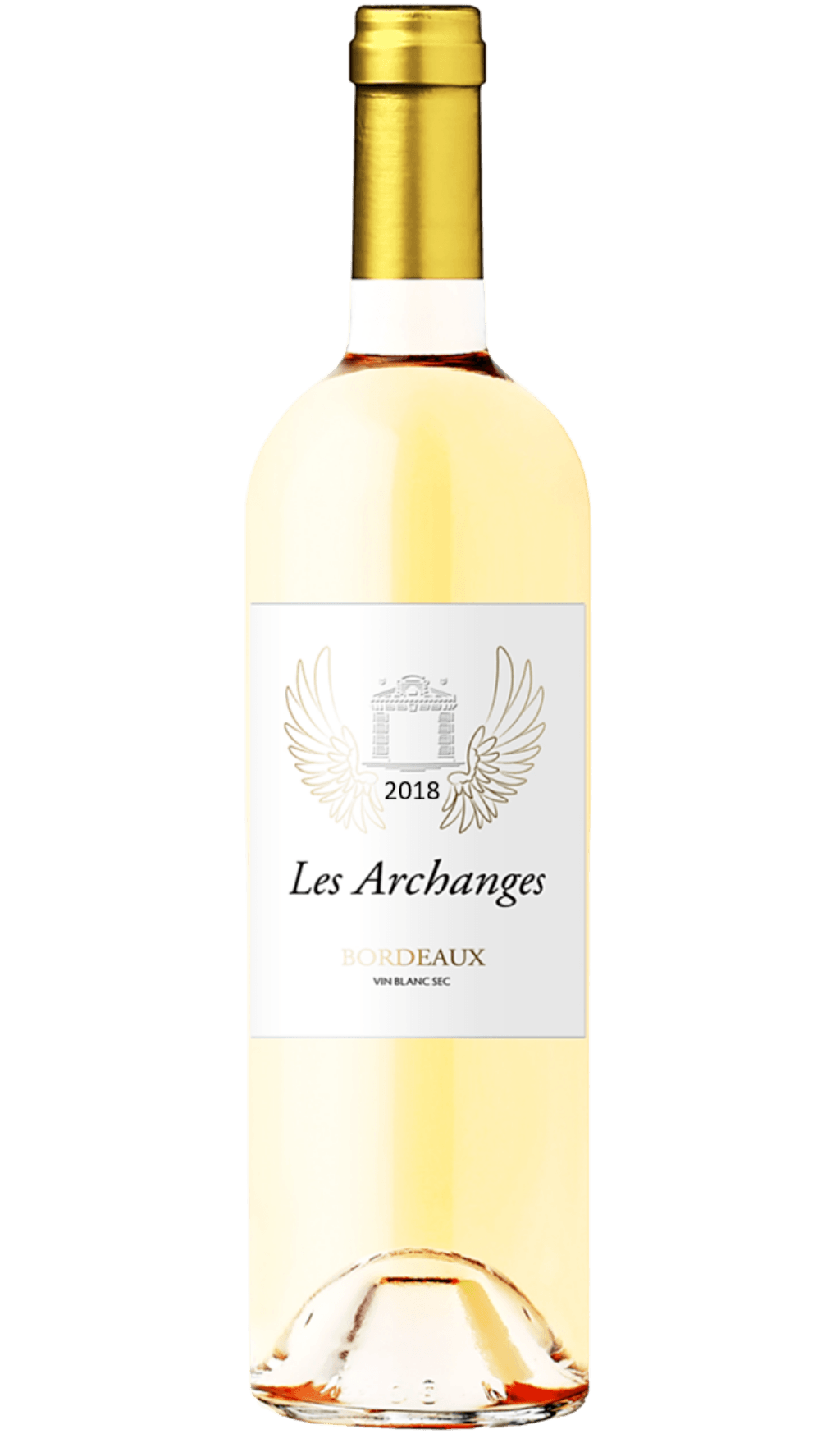 Bouteille de vin : Archanges Blanc 2018 Bordeaux Vin blanc sec du Château d'Arche